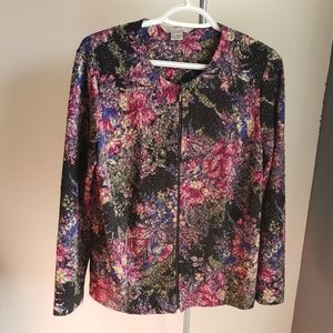 TanJay Floral Zippered Jacket
